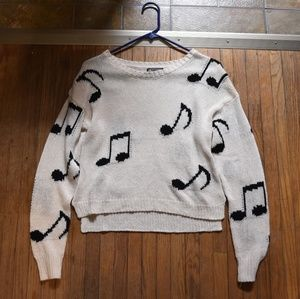 Hot Topic Music Note Sweater